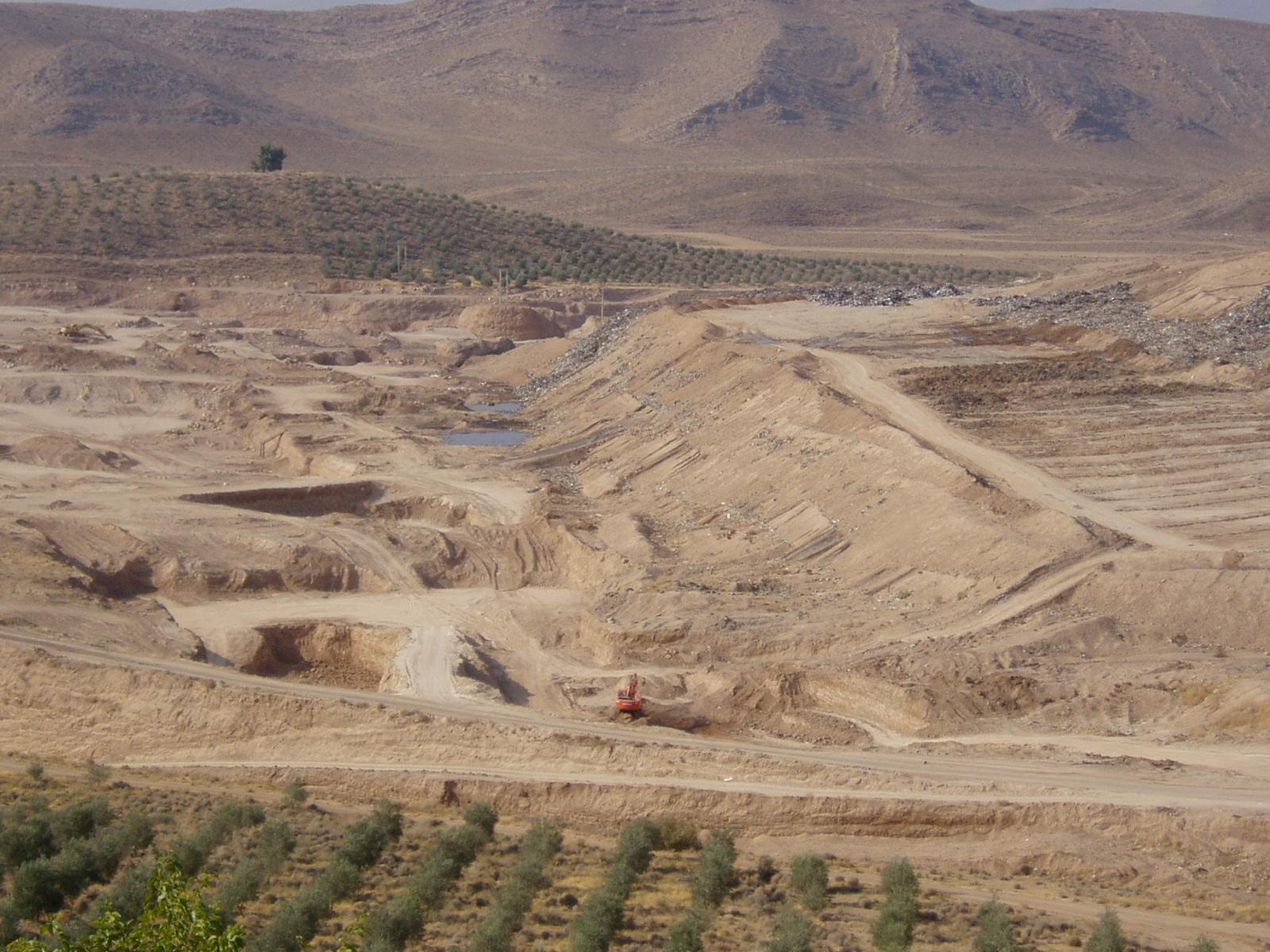 Open-cast mining
