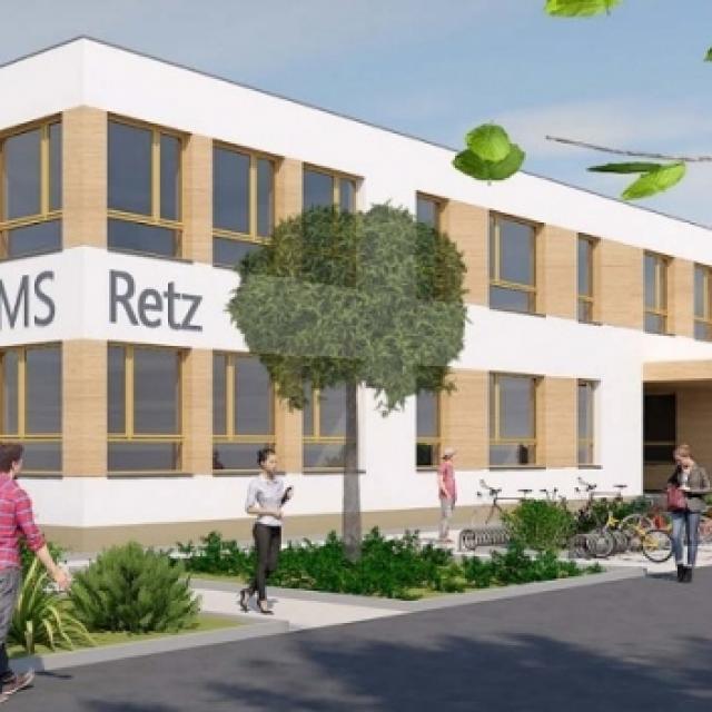 Visualisierung der NMS Retz, (c) Architekt Friedrich ZT GmbH