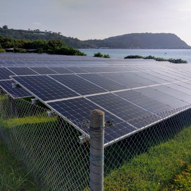 Photovoltaic system on the island of Vanuatu