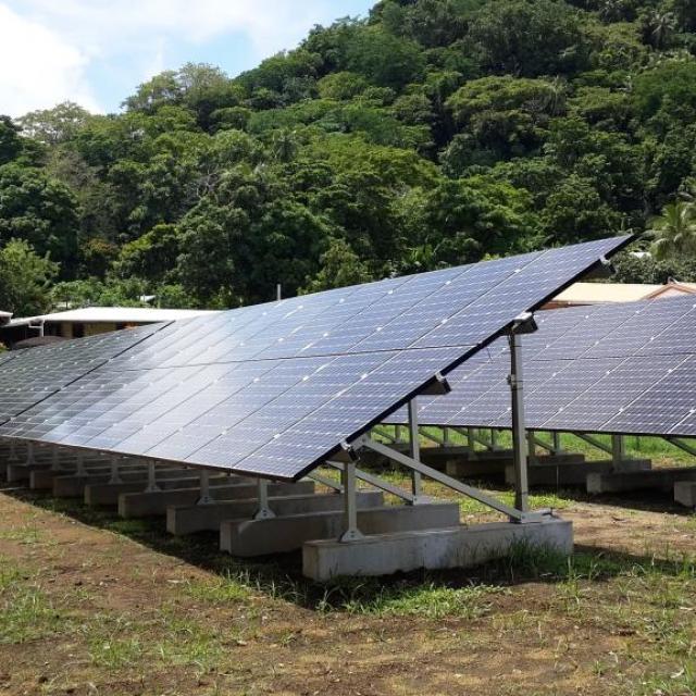Solar Micro Grid auf der Insel Malekula in Vanuatu