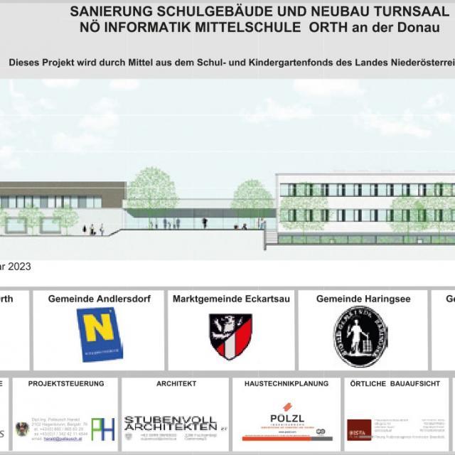 Sanierung der NMS Orth an der Donau